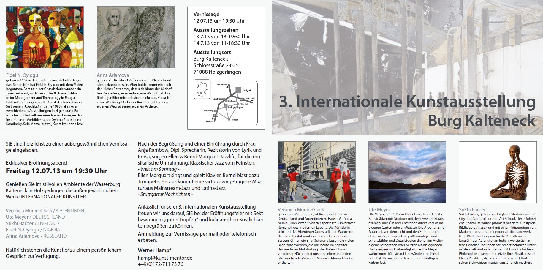 3. Internationale Kunstausstellung Burg Kalteneck