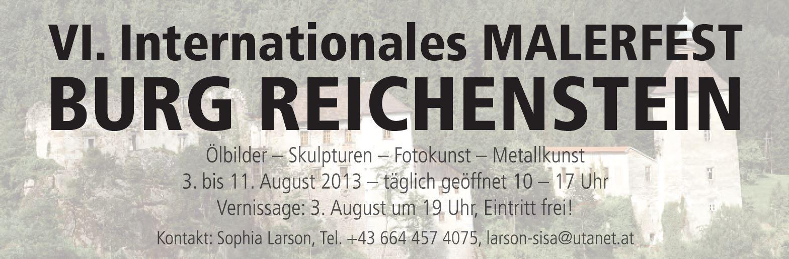 VI. Internationales MALERFEST BURG REICHENSTEIN